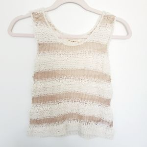 Urban Outfitters cropped sweater crochet tank top